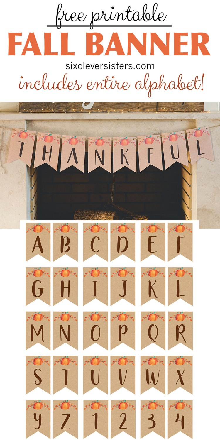 Gratifying image in fall banner printable