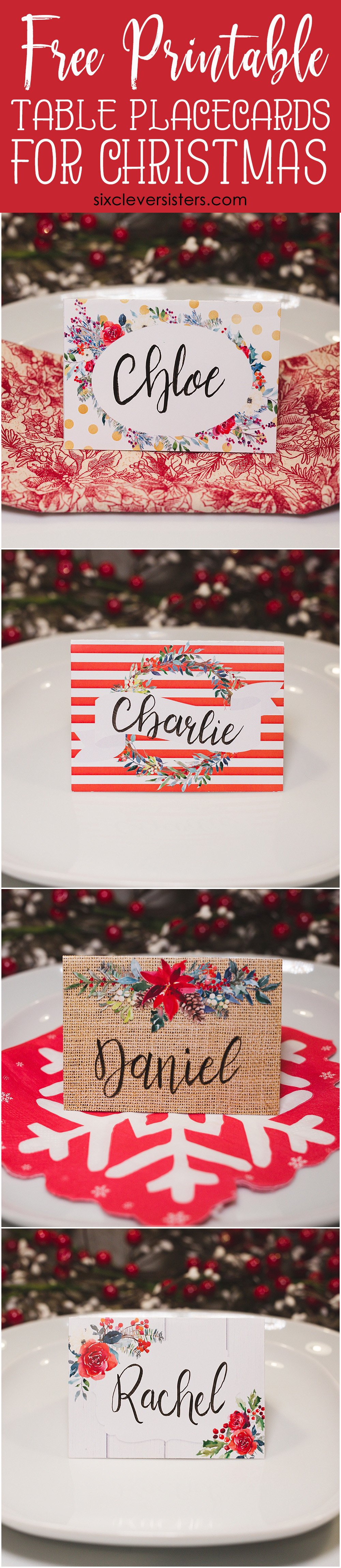 photograph regarding Free Printable Name Cards identified as Xmas Desk Point Playing cards Totally free PRINTABLE - 6 Intelligent