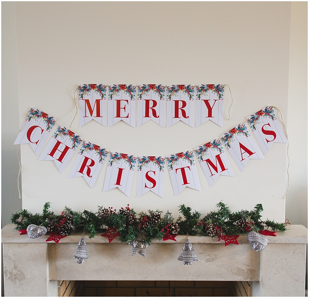 printable merry christmas banner six clever sisters printable merry christmas banner six