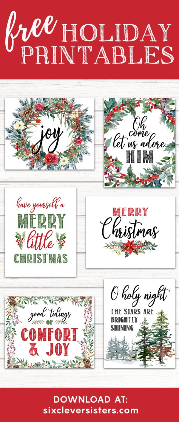 Free Printable Christmas.6 Free Printable Christmas Signs Six Clever Sisters