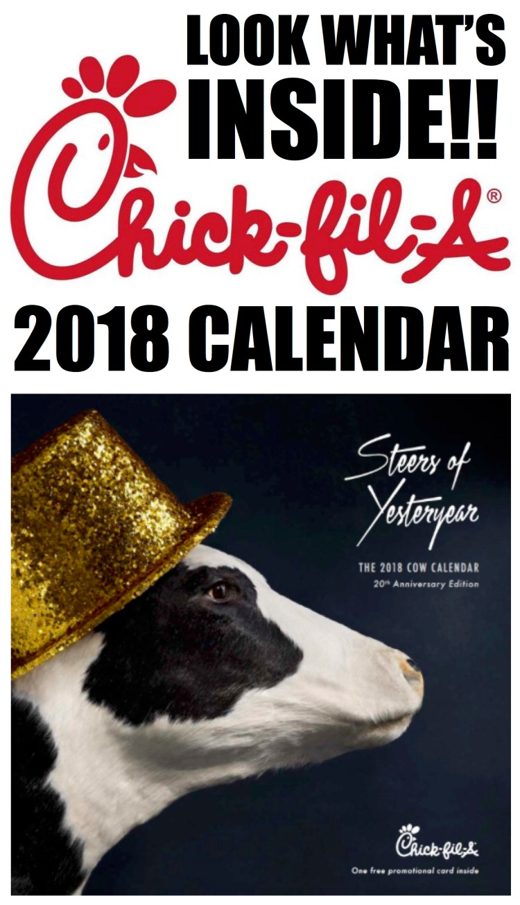 Chick Fil A 2018 Calendar Card Free Food | Chick Fil A Frosted Sunrise
