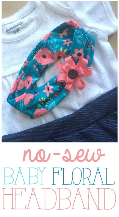 Baby Floral Headband Wrap Knit DIY   Cute Baby Headband Ideas   Newborn Headwrap   Floral Knit Headwrap   Floral Headband