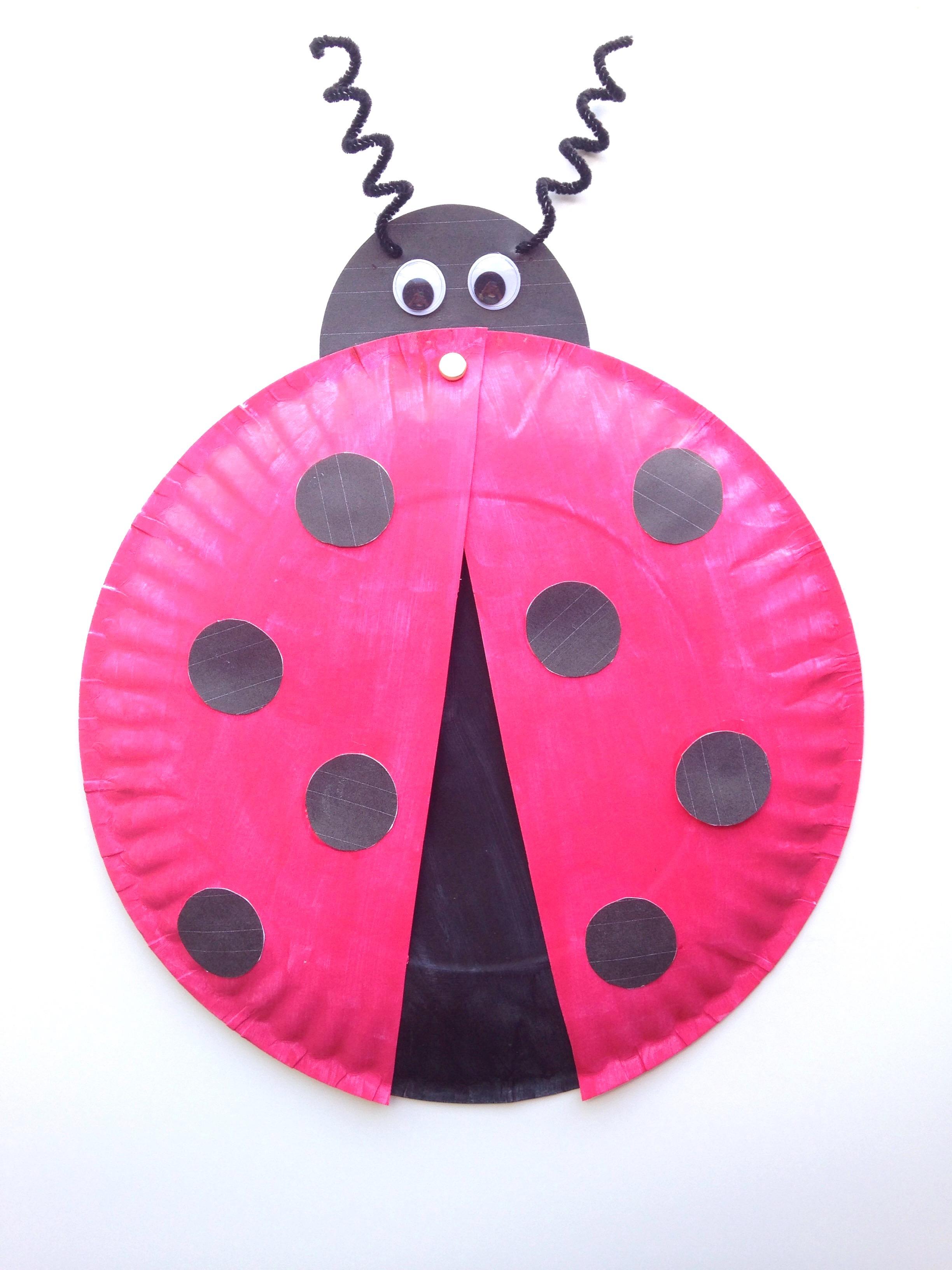 Ladybug Paper Plate Craft For Kids Free Printable
