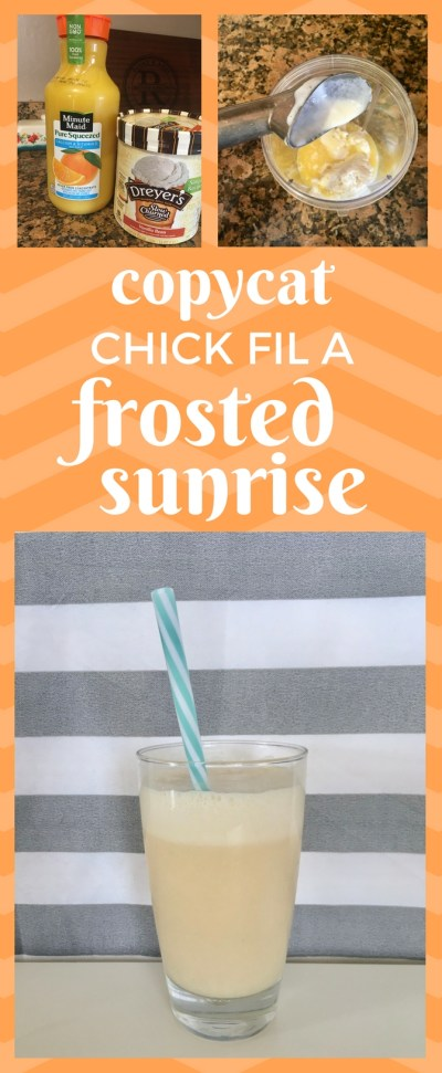 Chick Fil A Frosted Sunrise Recipe | Copycat Frosted Sunrise | Copycat Chick Fil A Recipes | Summer Drink | Orange Vanilla Smoothie | Drink Recipes
