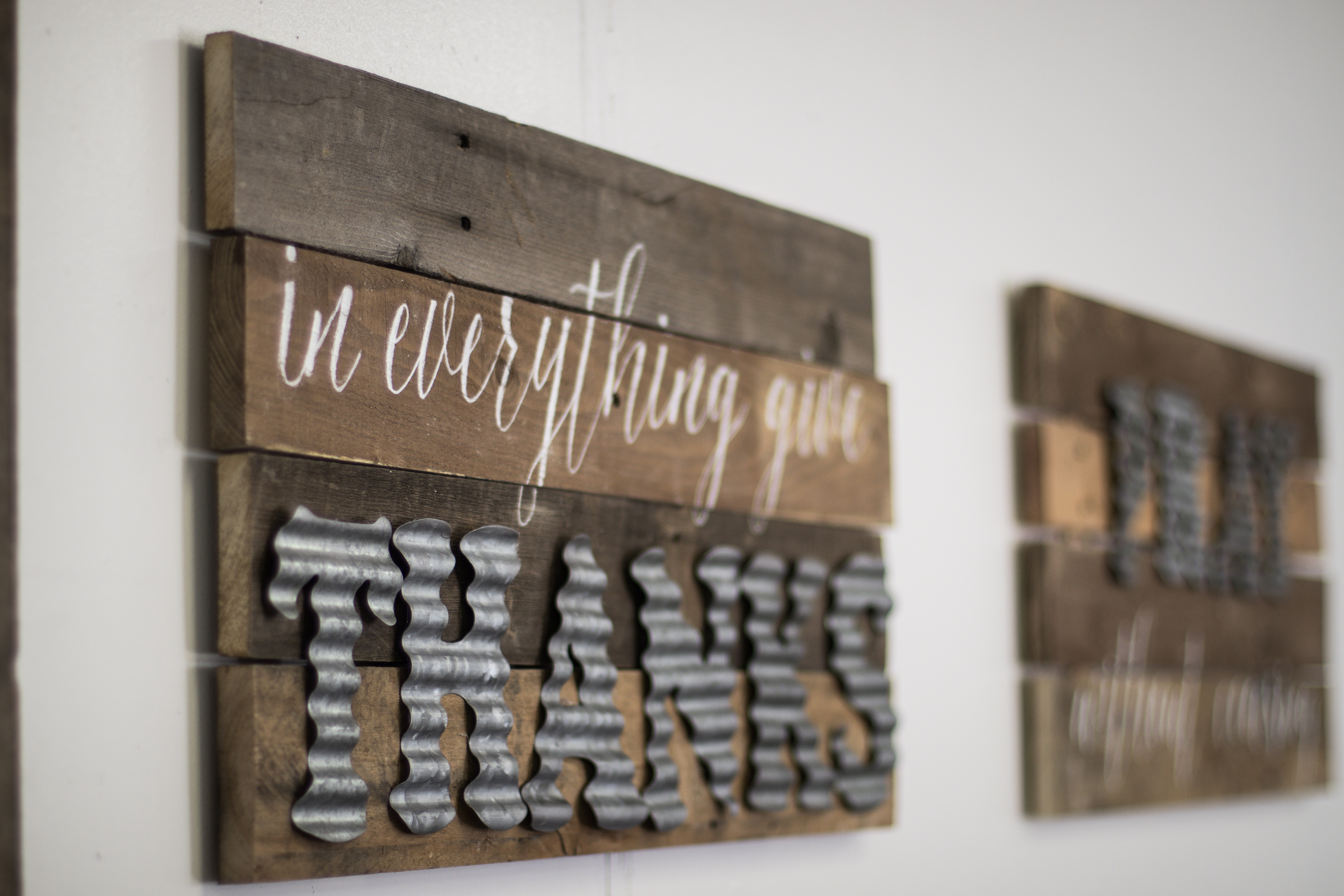 Diy Wood Sign With Galvanized Metal Letters Six Clever Sisters