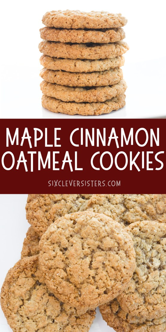Maple Cinnamon Oatmeal cookies   Oatmeal Cookies   Oatmeal Cookies Easy   Oatmeal Cookies chewy   Maple Cinnamon   Oatmeal Recipes   Oatmeal Cookies Calories   This delicious recipe from Six Clever Sisters tastes like Quaker's maple cinnamon instant oatmeal!