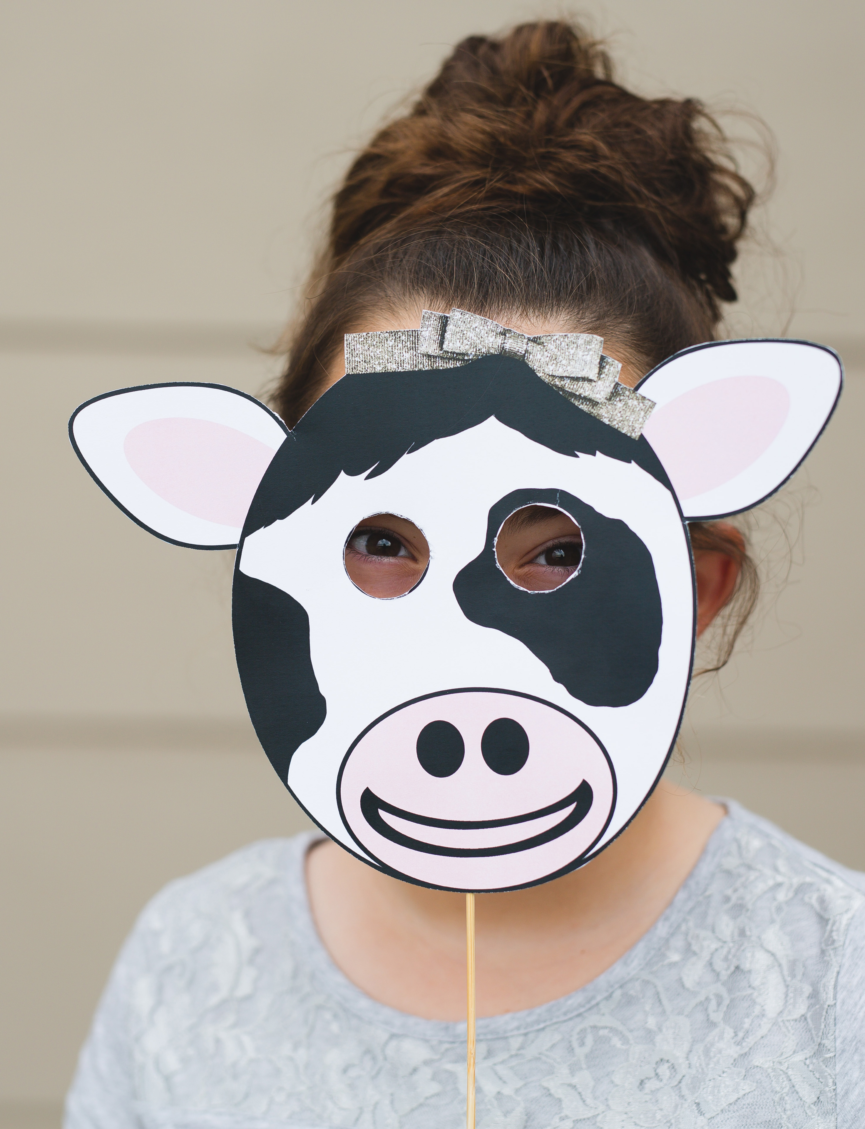 It's just an image of Free Printable Cow Mask in farm animal