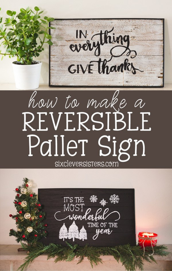 how to make a reversible pallet sign reversible pallet sign diy pallet sign reversible - Christmas Pallet Signs