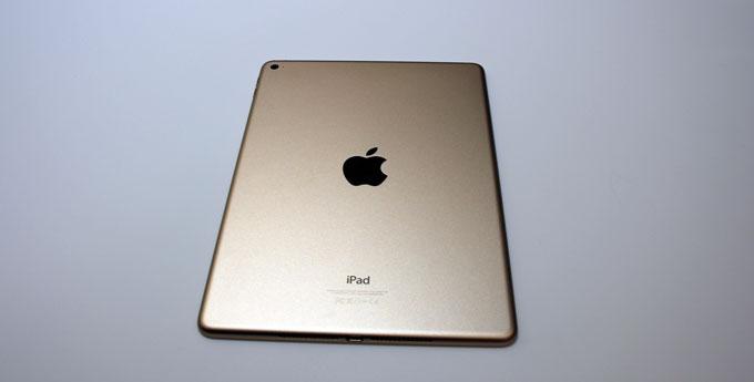 Gold-backed iPad Air 2