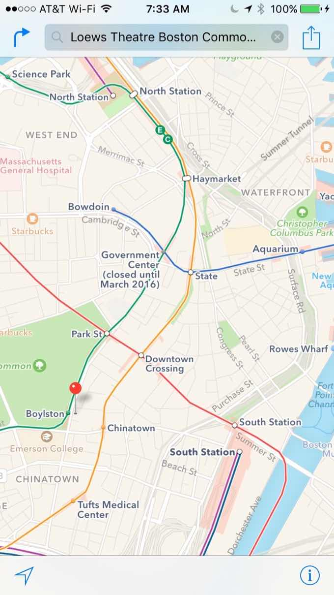 Boston transit directions