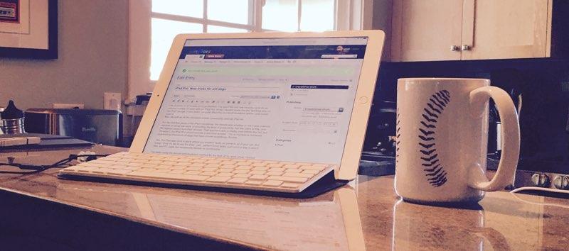 iPad Pro on bartop