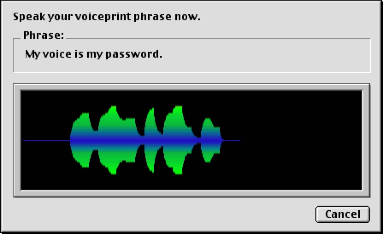 Voiceprint password
