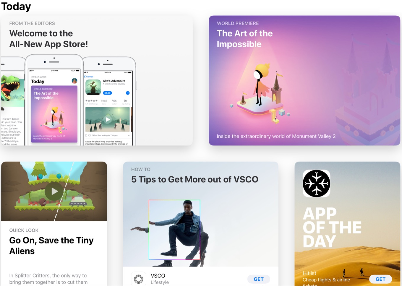 In Ios 11 App Store Editorial Comes Out Of The Shadows Six Colors
