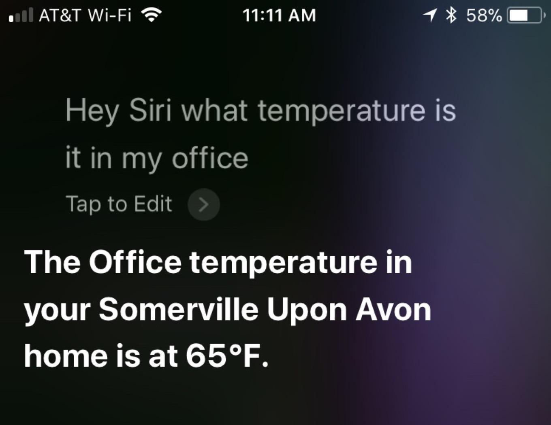 Siri Temperature