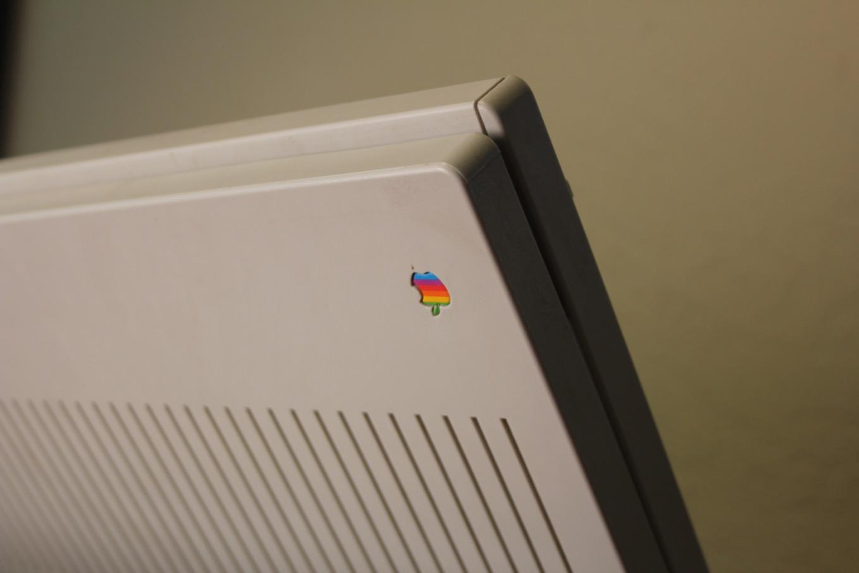 Portable with Rainbow Apple logo