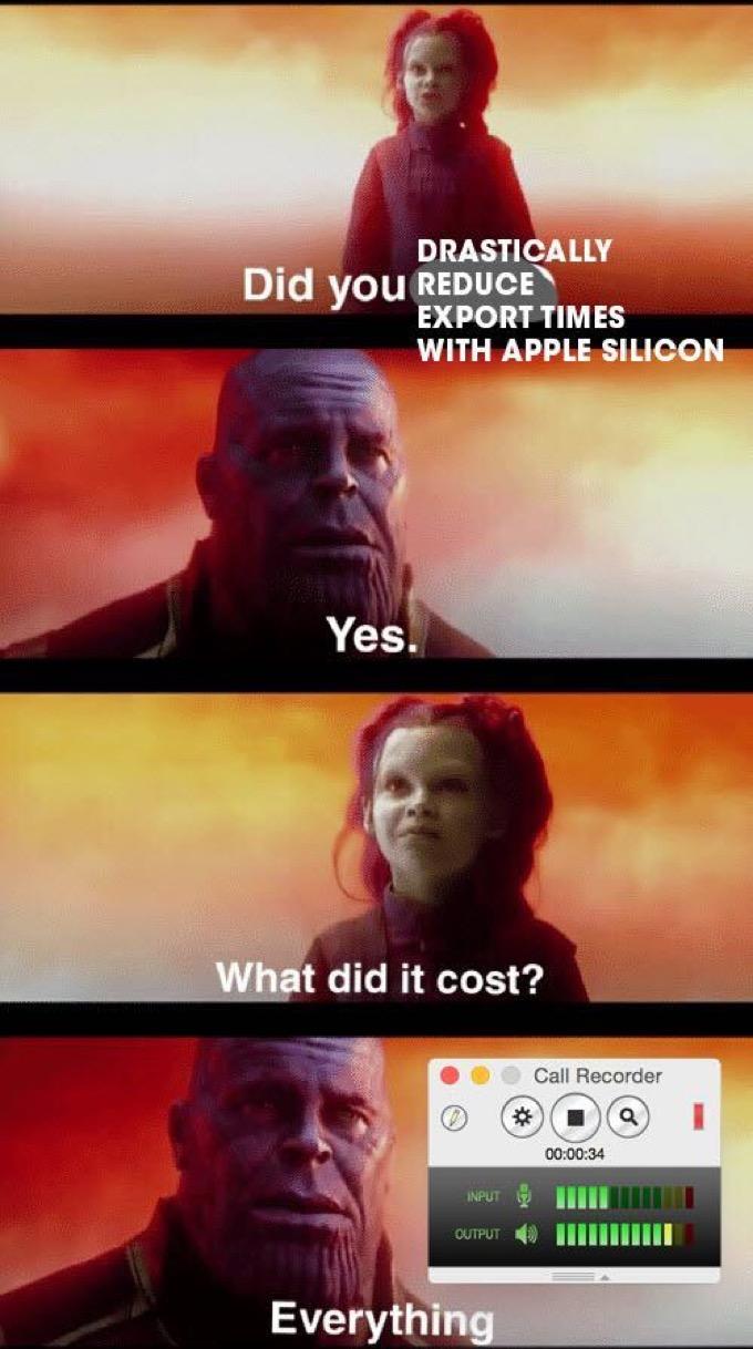 Thanos regrets killing Call Recorder.
