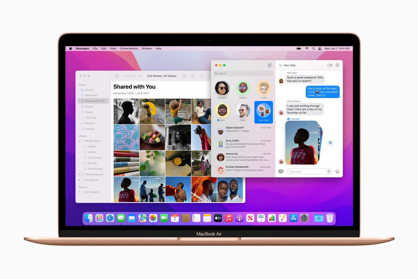 Photos and Messages on macOS Monterey