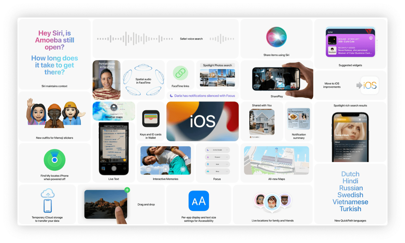 More iOS 15 features
