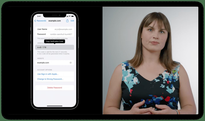 iOS 15's built-in code generator