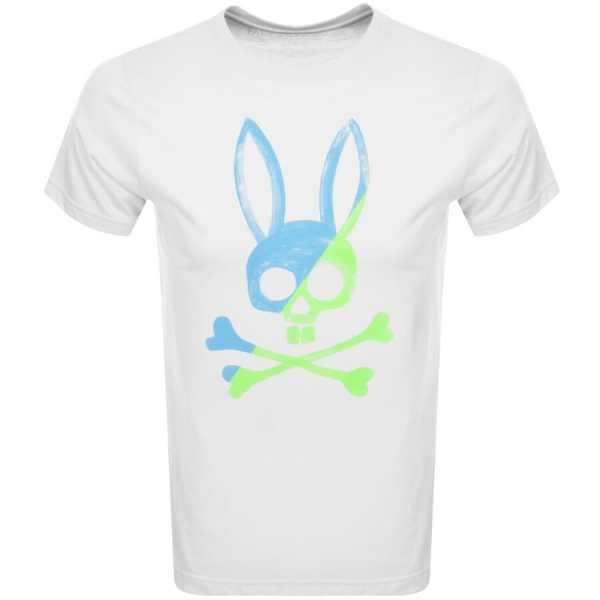 Psycho Bunny Andover Logo T Shirt White