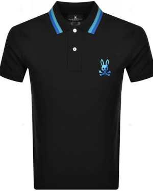 Psycho Bunny Surrey Polo T Shirt Black