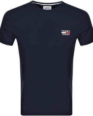 Tommy Jeans Logo T Shirt Navy