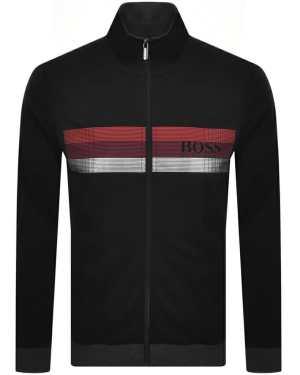 BOSS Bodywear Lounge Full Zip Sweatshirt Black