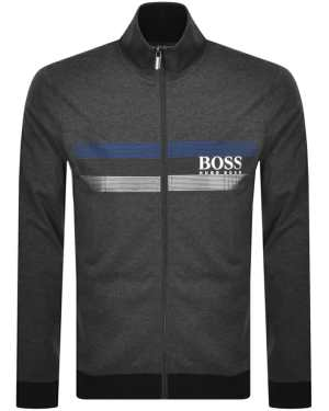 BOSS Bodywear Lounge Full Zip Sweatshirt Grey