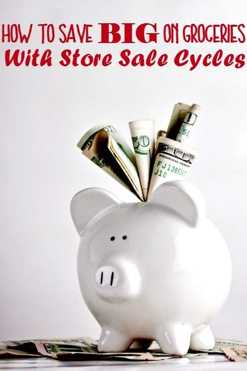 How to Save Money on your groceries by using sale cycles - Did you know that you can predict what items will be on sale at the store next month? You sure can and I'm going to show you how! You'll be saving money on your groceries in no time!
