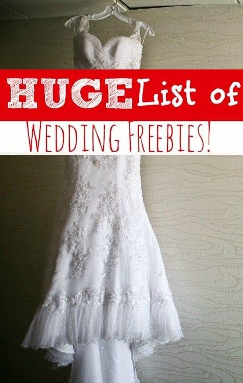 Budget Wedding | Huge list of freebies for your wedding