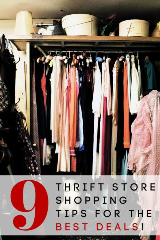 Planning to head to the thrift stores? Be sure to check out these 9 thrift store shopping tips first! They're just what you need to save the most money!