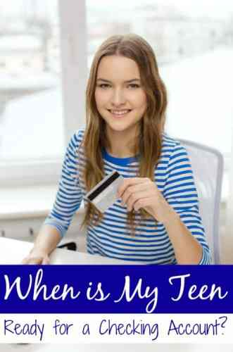 """Does your teen have a job? Their own bank account? If you're asking the question """"When Should My Teen Have Their Own Checking Account?"""" these tips will help!"""