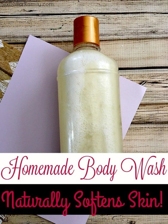 Looking for a body wash that will clean and make your skin soft? This is it! This homemade body wash is so luxurious you'll think you've brought the spa home! It took care of my dry skin and started to soften my skin after just one use!