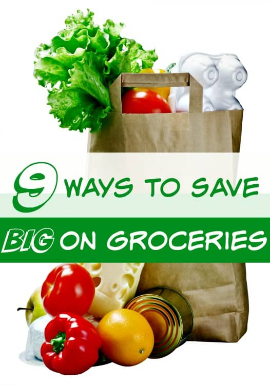 How to Save Money on Groceries - If your grocery bill is too high, you're not alone! It's one of the highest expenses that most families have! These 9 ways to save on groceries can help though! They'll have you lowering your food bill in no time and all without coupons!