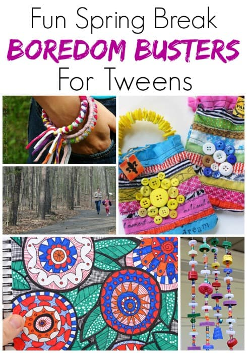 """Stop """"I'm bored"""" in its tracks with these awesome ideas! These 25 spring break boredom busters for tweens are perfect for anytime the kids need a bit of help figuring out what to do!"""