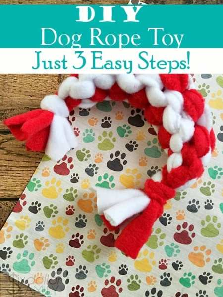 DIY Dog Rope Toy - Have a puppy that needs a new chew toy? Make this easy DIY Dog Toy! Your pooch will have a blast chewing on this homemade rope toy!
