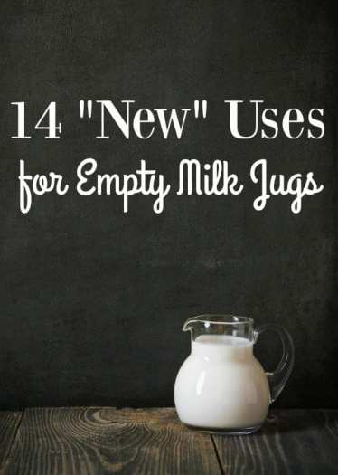 """Ways to Use Empty Milk Jugs - Holding onto empty milk jugs? Put them to good use! These 14 """"new"""" uses for empty milk jugs will blow your mind!"""