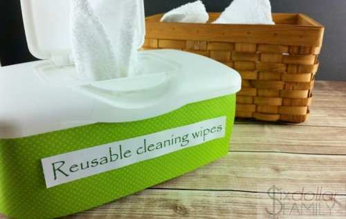 Make Your Own Homemade Cleaning Wipes - Skip the paper towels and the disposable wipes and make these homemade cleaning wipes instead! They're filled with all-natural cleaning and disinfecting power and super cheap to make too!