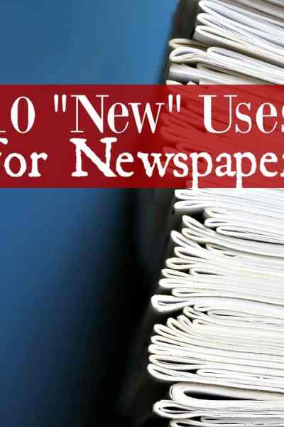 "Ways to Upcycle Newspaper - Do you have stacks of newspapers lying around your home? If so, check this out! You can use newspaper for so much more than catching up on the news! These 10 ""New"" Uses for Newspaper might just surprise you!"