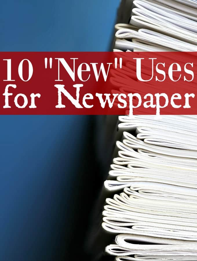 """Ways to Upcycle Newspaper - Do you have stacks of newspapers lying around your home? If so, check this out! You can use newspaper for so much more than catching up on the news! These 10 """"New"""" Uses for Newspaper might just surprise you!"""
