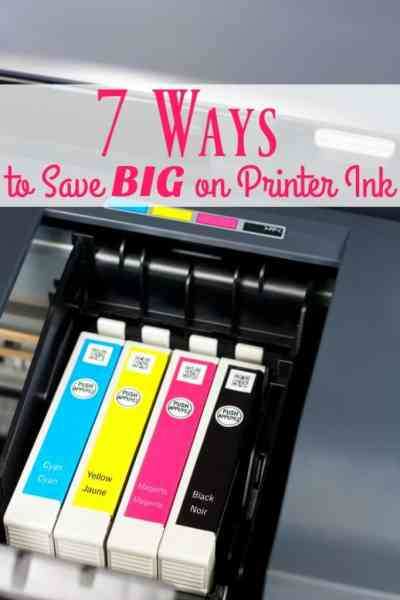 """Is paying for printer ink killing your budget? You need to learn how to save money on printer ink! These 7 ways can help! They're not your typical """"Don't print"""" kind of tips!"""