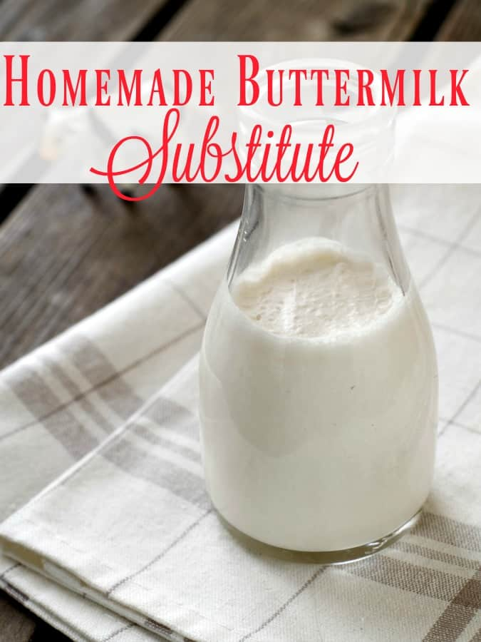 """Making a recipe that calls for buttermilk but have none in the fridge? No fear! This homemade buttermilk substitute is amazing! You'll never be able to tell you didn't use the """"real"""" thing!"""