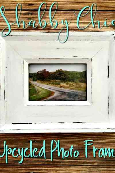 Love shabby chic home decor? This Shabby Chic Upcycled Photo frame is super easy to make and perfect for anyone who loves thrift store shopping! Turn an old frame into adorable home decor on a budget for just a couple of dollars!