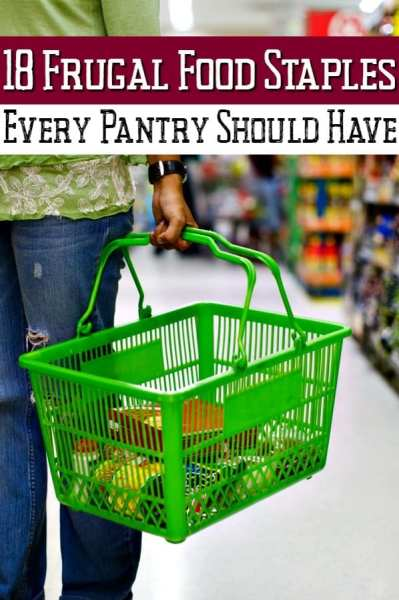 Tired of spending so much on groceries? These 18 frugal food staples are a fantastic way to save money on groceries to cut your grocery bills!