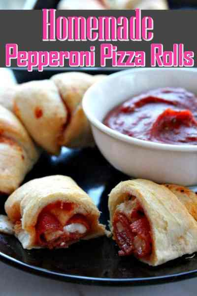 Pizza Rolls Recipe - Need a quick and easy snack or meal idea? This homemade pizza rolls recipe is perfect! Ooey gooey and filled with cheese, they're simply the best!