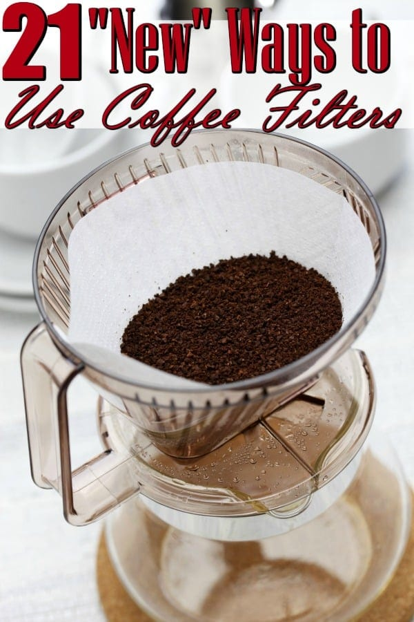 "Ways to Use Coffee Filters (Besides the obvious!) - Have a box of unused coffee filters laying around? They're great for SO many more uses than simply making coffee! You'll love these ""New"" Ways to Use Coffee Filters!"