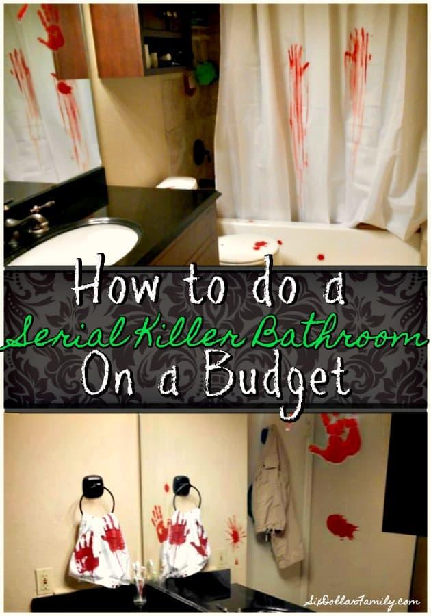 Creepy Halloween Decorations Serial Killer Bathroom Decor On A Budget