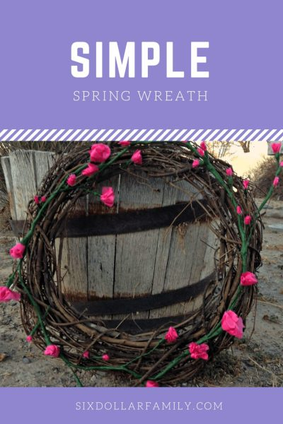 Easy Spring Wreath Tutorial - Welcome spring in style with this simple and elegant spring wreath! Simple to make and looks fantastic!