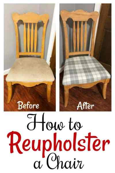 How to Reupholster Chairs - Do you have a new thrift store upcycle to work on? If you've never learned how to reupholster a chair, let me show you! In this step by step photo tutorial, we walk you through the entire process!