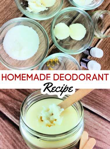 If you're tired of using deodorant that is full of toxins, this homemade deodorant recipe is just what you need. This all-natural DIY aluminum free deodorant recipe works amazingly, smells great and comes together in just a few minutes.